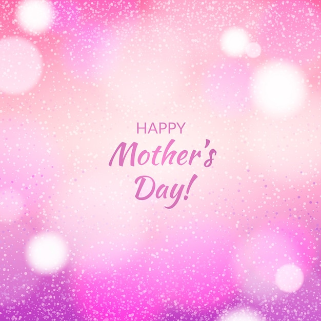 Happy mother's day blurred design Free Vector