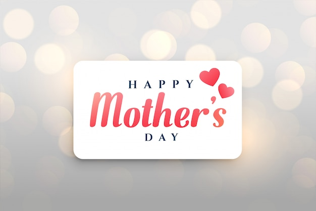 Happy mother's day bokeh background Free Vector