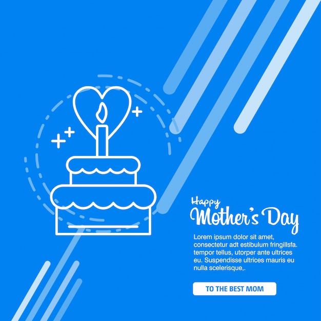 Happy Mother\'s Day Calligraphy\ Background