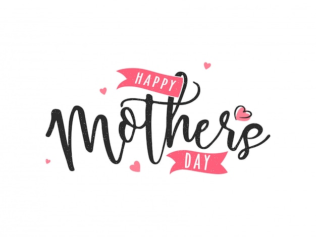 Happy mother s day calligraphy text vector premium download