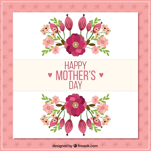 Happy mother\'s day card with flowers