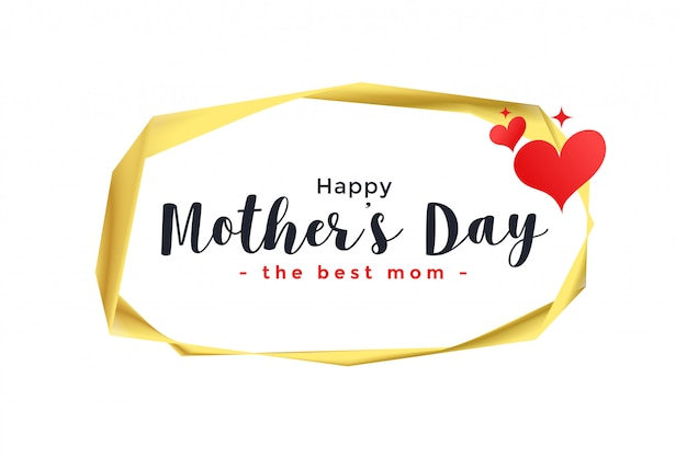 Happy mother's day hearts background Free Vector