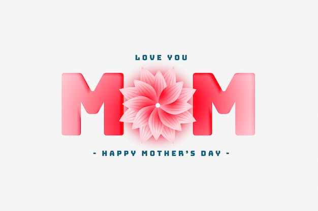 Happy mother's day lovely greeting design Free Vector