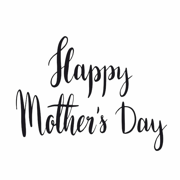 Happy mother s day typography style vector Free Vector