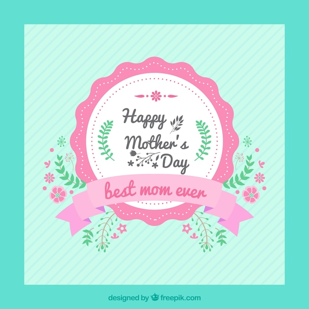 Happy mother\'s day vintage card