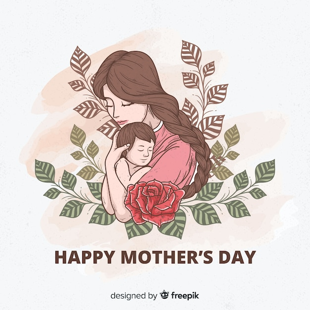 Mothers Day Print Poster A4 Present Gift Mum Love Happiness Flowers Roses 1056