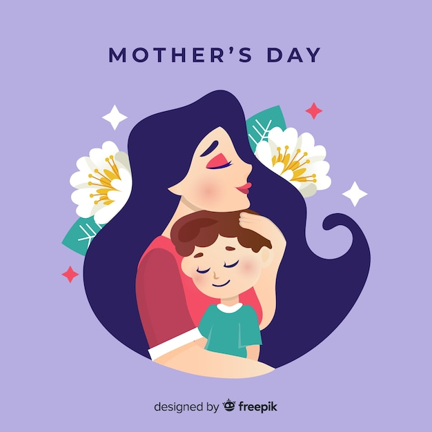 Happy mother's day Premium Vector