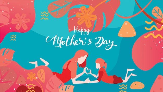 Happy mother's day! Premium Vector