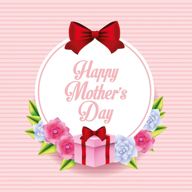 Happy mothers day card Premium Vector