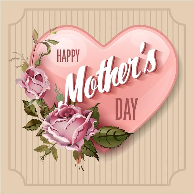 Happy mothers day vector illustration Premium Vector