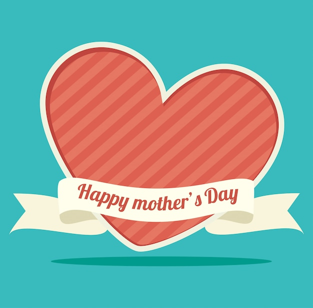 Happy mothers day Free Vector