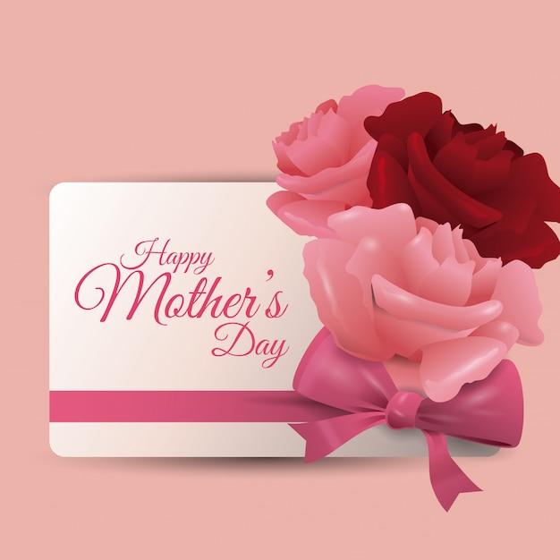 Happy mothers day Premium Vector
