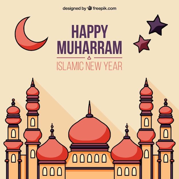 Happy Muharram Background Vector