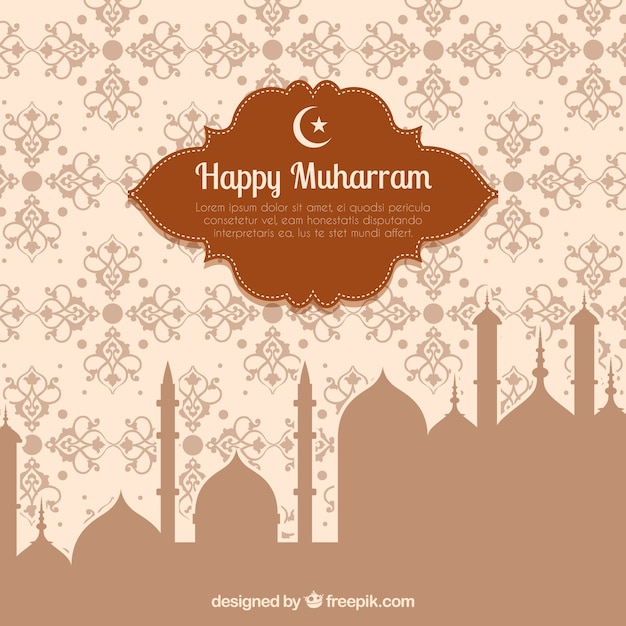 Happy muharram background Free Vector