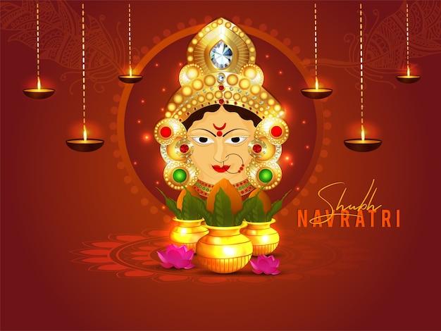 Happy navratri celebration design Premium Vector