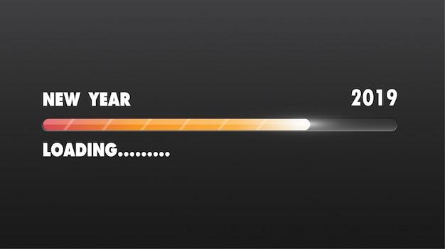 Happy new 2019 year. greetings card. Premium Vector