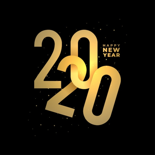 Happy new 2020 year banner Premium Vector