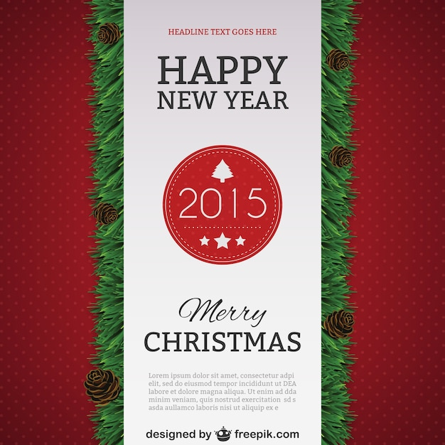 happy new year 2015 poster template free vector