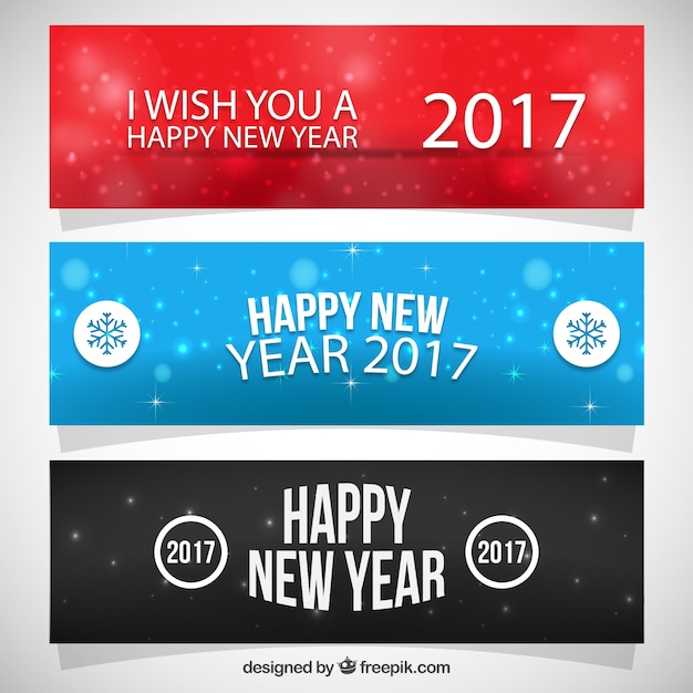 Happy New Year 2016 Banner Collection Vector | Premium Download