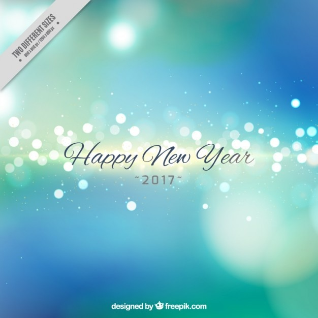 happy new year 2016 blue background free vector