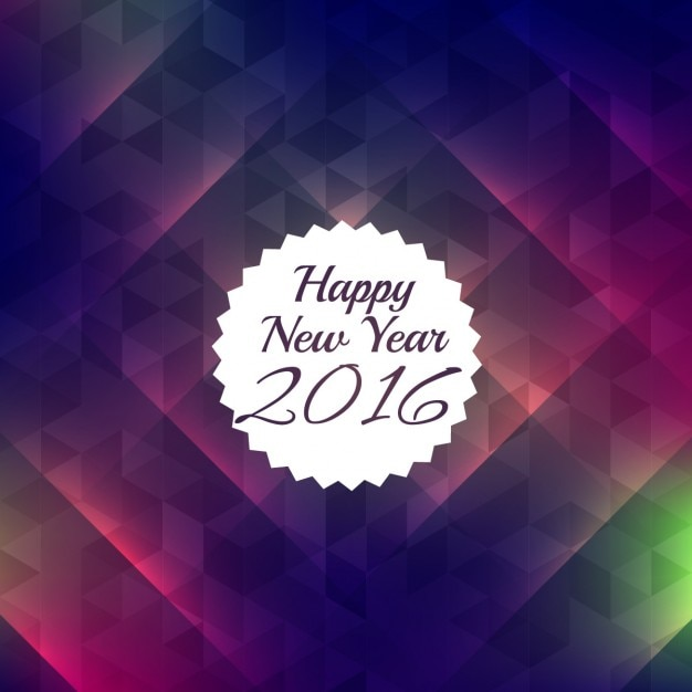 Happy new year 2016 with colorful\ background