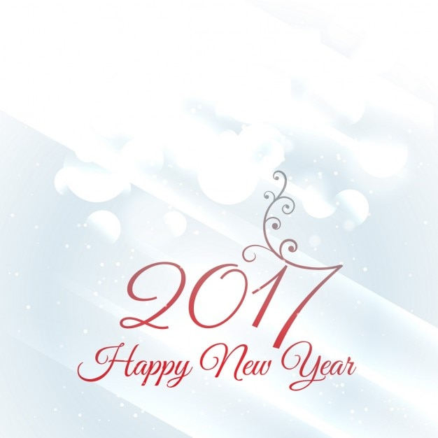 happy new year 2017 white background free vector