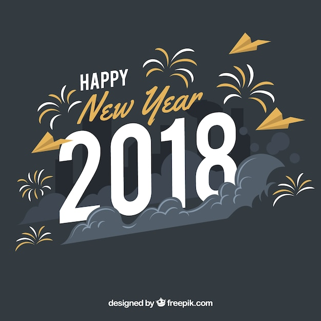 happy new year 2018 background in vintage style stock images page everypixel