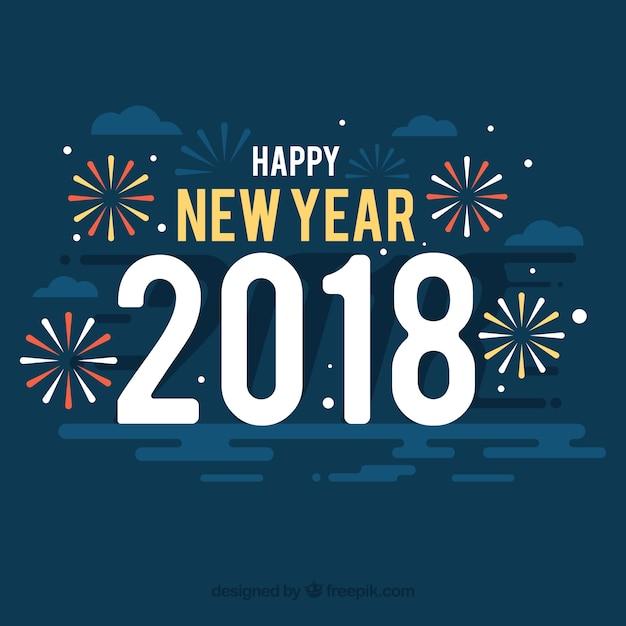 Happy New Year Flat Design 16