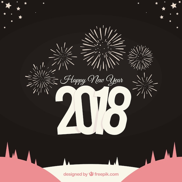 happy new year 2018 background with fireworks stock images page everypixel