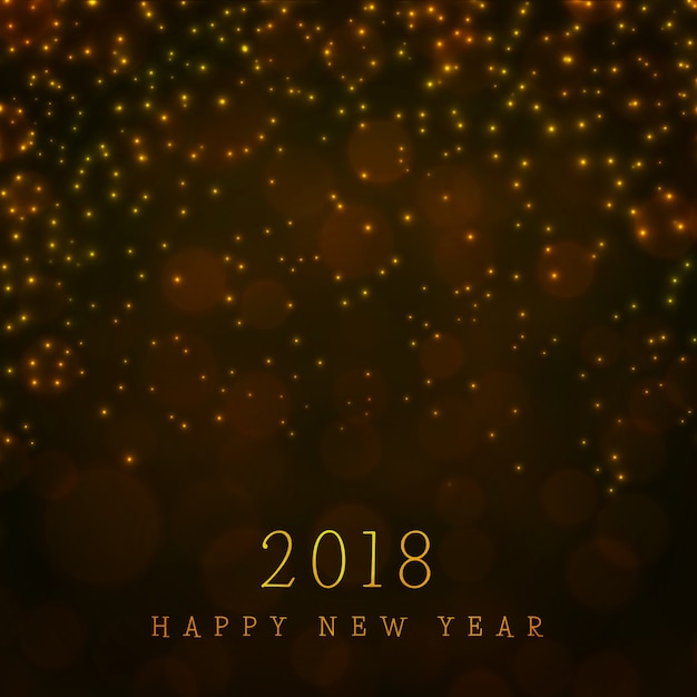 happy new year 2018 background with lighting effect free vector