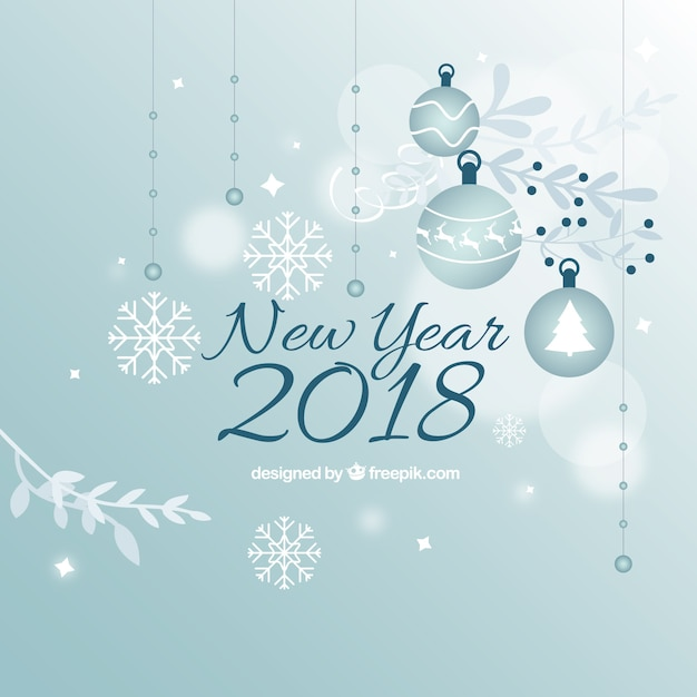 happy new year 2018 decorative background free vector