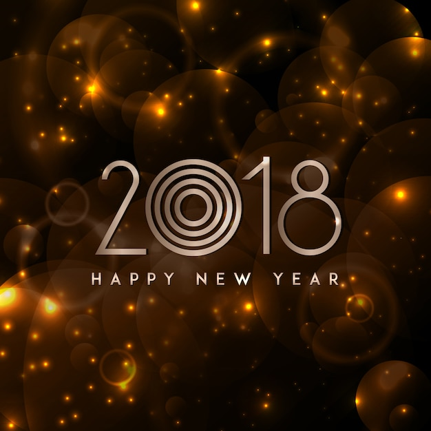 Happy New Year 2018 Elegant Royal background with Golden Bars Effect Free Vector