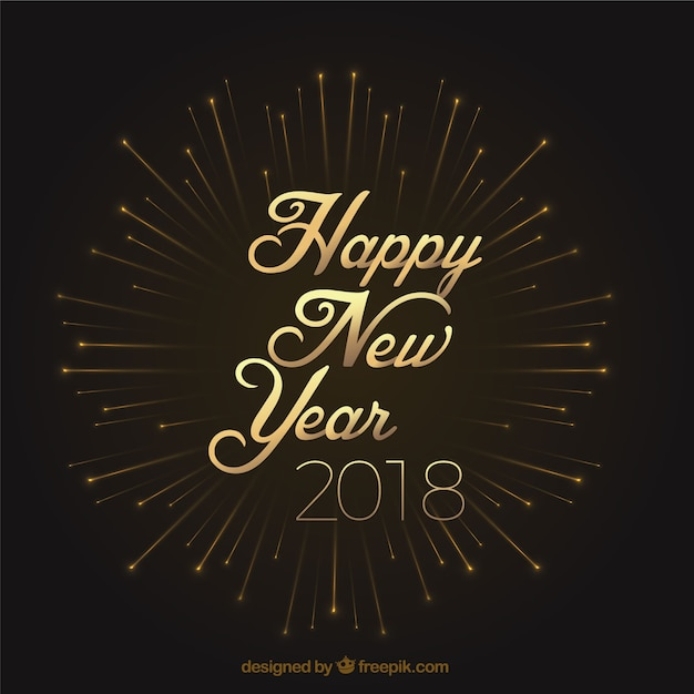 Happy new year 2018 vintage background