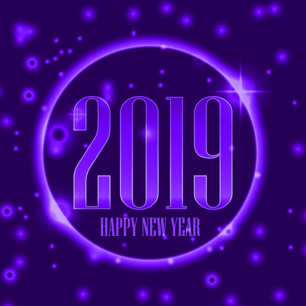 Happy new year 2019 background with purple color vector premium download - New years colors 2019 ...