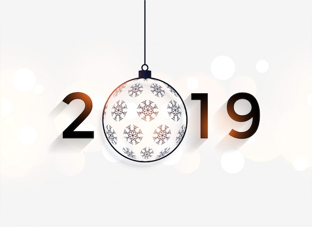 Happy new year 2019 decorative background Vector  Free Download