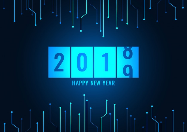 Happy new year 2019 Premium Vector