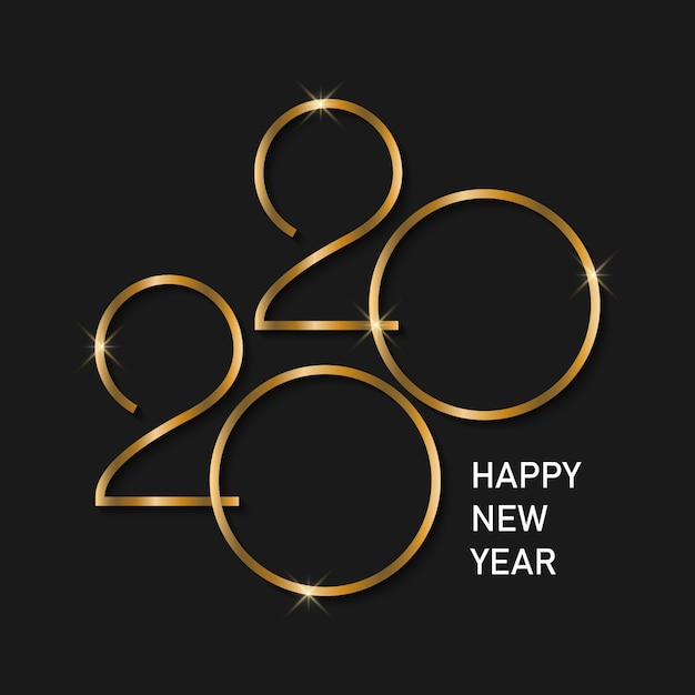 新年あけましておめでとうございます2020背景。 Premiumベクター