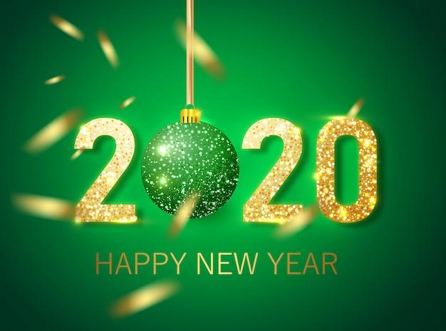 Happy new year 2020 banner Premium Vector