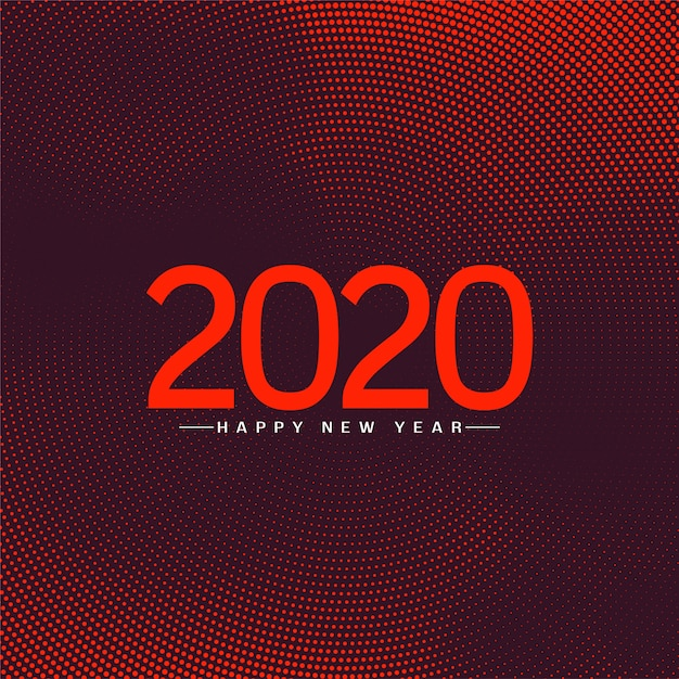 Happy new year 2020 celebration greeting background Free Vector