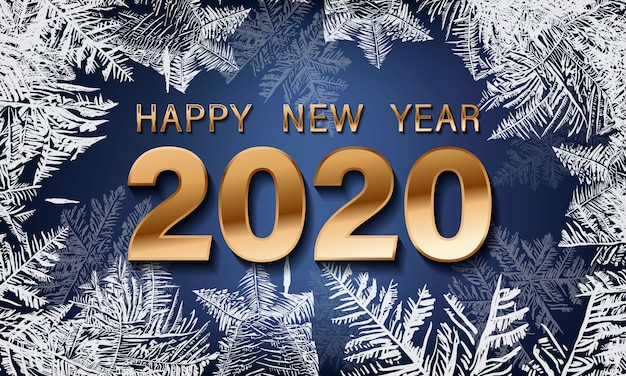 New 1040 For 2020.Happy New Year 2020 Snowflake Decoration Effect Christmas