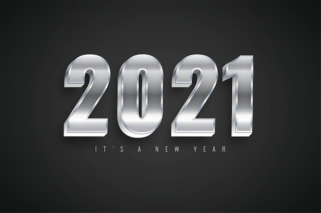 달력에 대한 새해 복 많이 받으세요 2021 그라디언트 다채로운 실버 템플릿 프리미엄 벡터