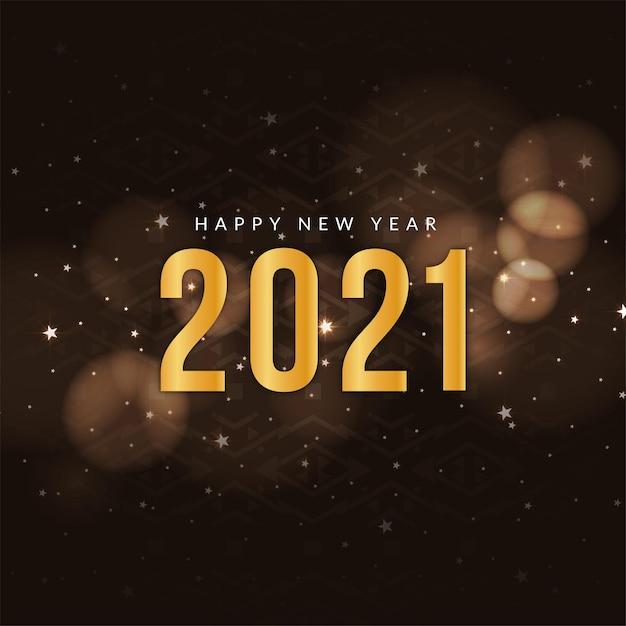 Felice anno nuovo 2021 saluto sfondo Vettore gratuito