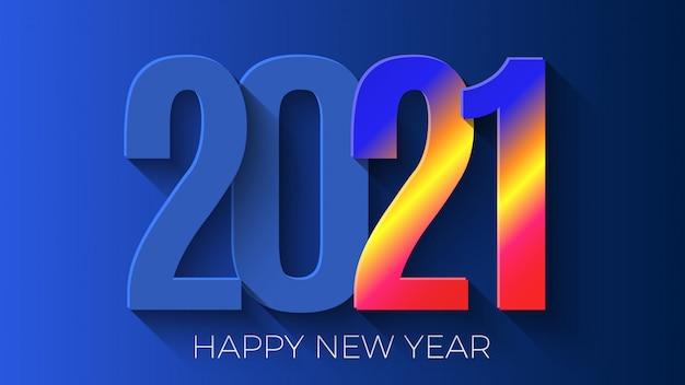 Premium Vector | Happy new year 2021. greeting card design.