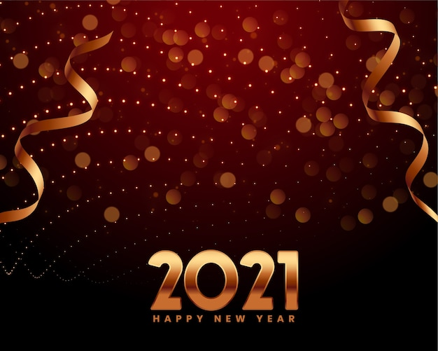Free Vector | Happy new year 2021 greeting card with 2021 ...