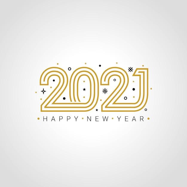 Поздравление с новым 2021 годом Premium векторы
