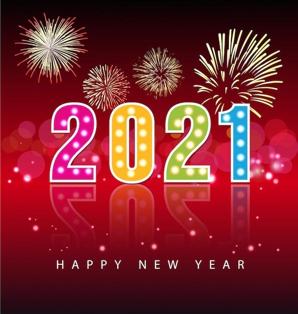 Premium Vector | Happy new year 2021 greetings