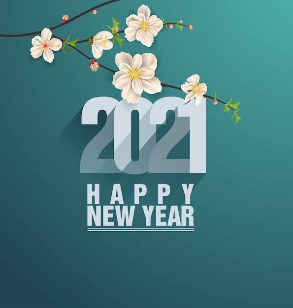 Premium Vector | Happy new year 2021 greetings