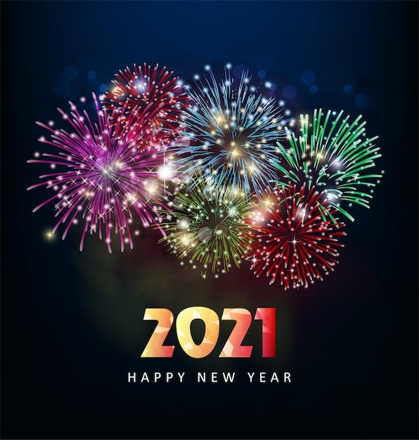 Premium Vector | Happy new year 2021, greetings.