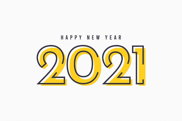 Premium Vector | Happy new year 2021 vector template.
