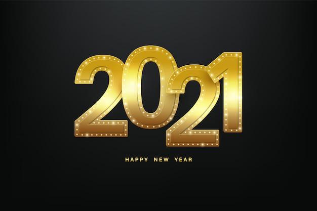 明けましておめでとうございます2021。 Premiumベクター